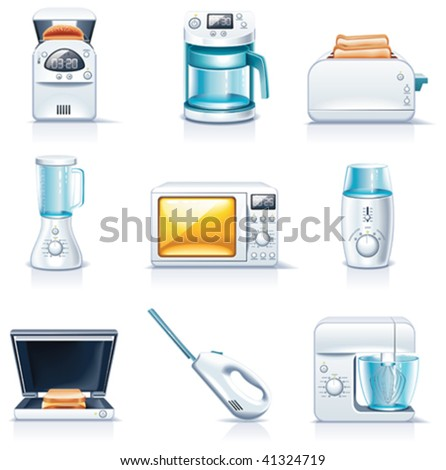 Vector household appliances icons. Part 1 - stock vector