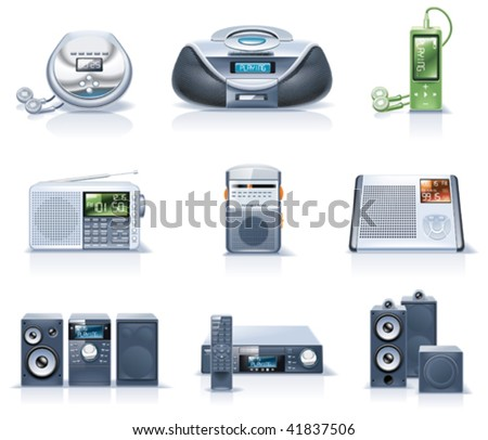 Vector household appliances icons. Part 8 - stock vector