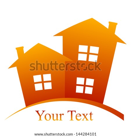 Vector houses icon - stock vector