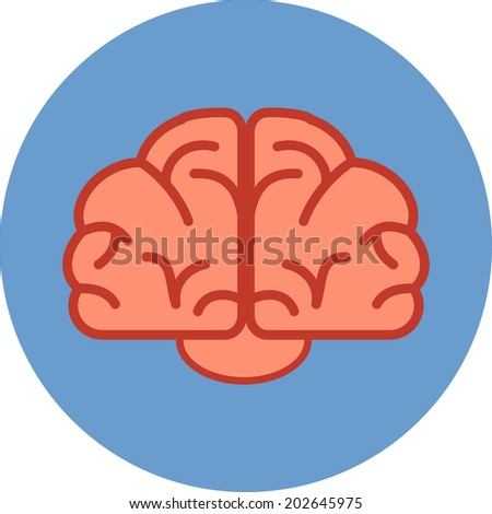 Vector Human Brain  - stock vector