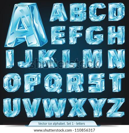 Vector Ice Alphabet Set 1 Letters Stock Vector 110856317 ...