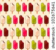 Vector ice cream bar pattern - stock photo