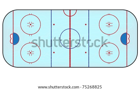 Vector ice hockey field