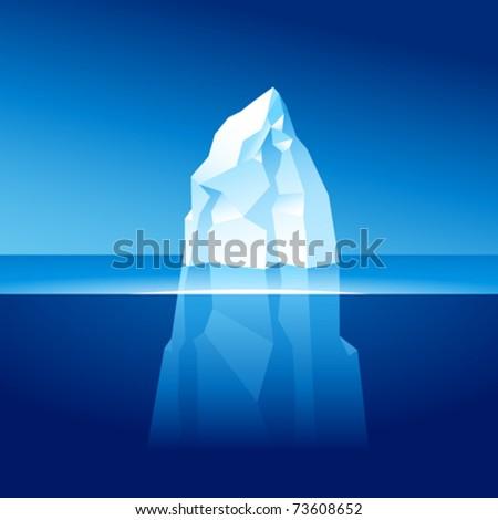 vector iceberg - stock vector