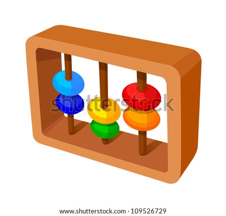 vector icon abacus calculation - stock vector