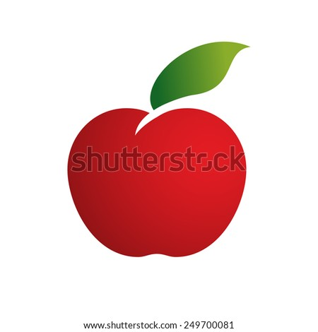 Vector icon apple  - stock vector