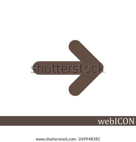 Vector icon arrow - stock vector