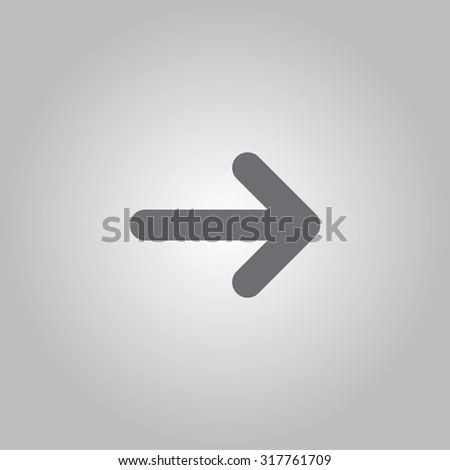 Vector icon arrow - stock vector