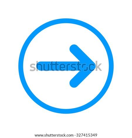Vector icon arrow. Flat design style eps 10 - stock vector