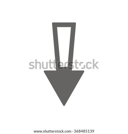 Vector icon arrow icon, vector illustration. Flat design style - stock vector