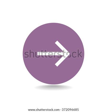 Vector icon arrow to the right - stock vector