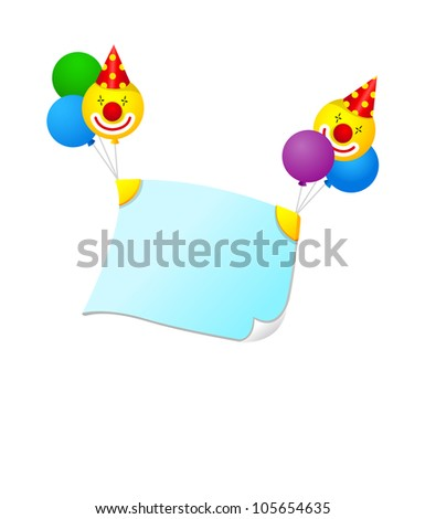 Vector icon balloons and banner - stock vector