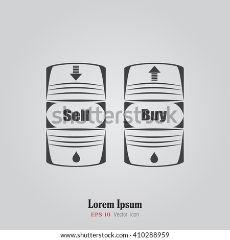 Vector icon barrels of oil. Oil Barrel icon or sign. Oil Barrel icon or sign. Icon barrels of oil vector illustration. Exchange money doodle. Trade on the stock exchange. Financial operations. - stock vector