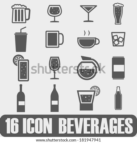 Vector Icon Beverages On white background