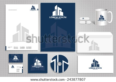 Vector Icon Building Architectural Firm Logo Corporate Design Styling For The