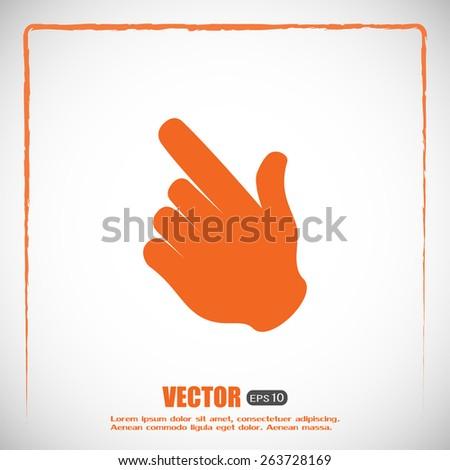 Vector icon click. hand icon pointer - stock vector