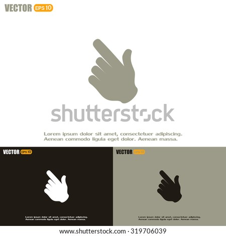 Vector icon click. hand icon pointer - stock vector