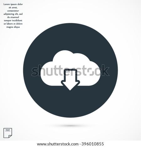 vector icon cloud download - stock vector