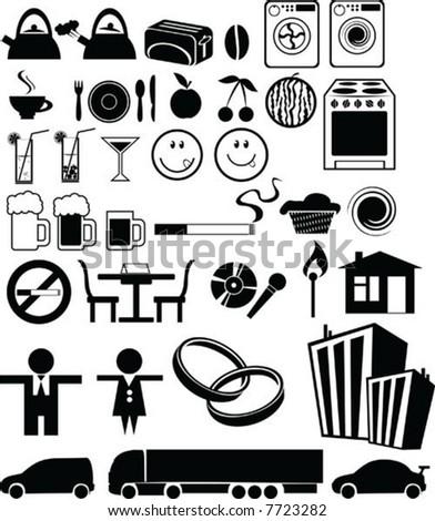 vector icon collection - stock vector