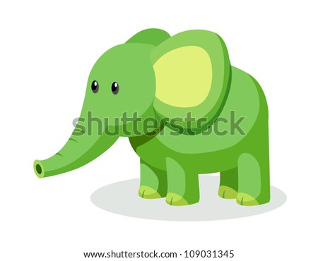 vector icon elephant