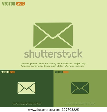 Vector icon Envelope with paper sheet - concept of email