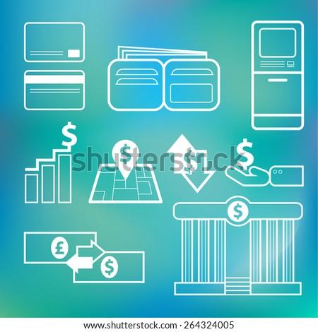 Vector icon financial - stock vector