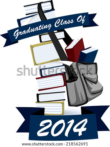 Vector icon for graduating students. - stock vector