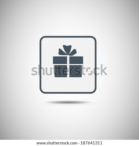 Vector icon Gift box icon. Vector illustration.  - stock vector
