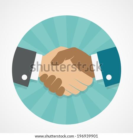 Vector icon handshake - stock vector