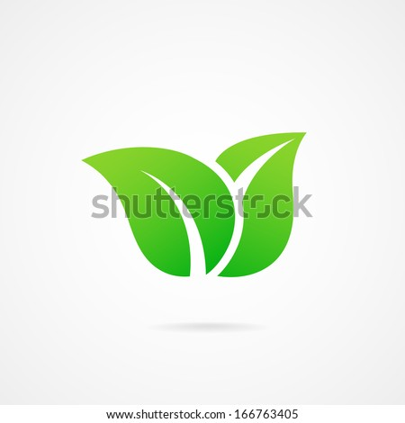 vector icon leaf - stock vector
