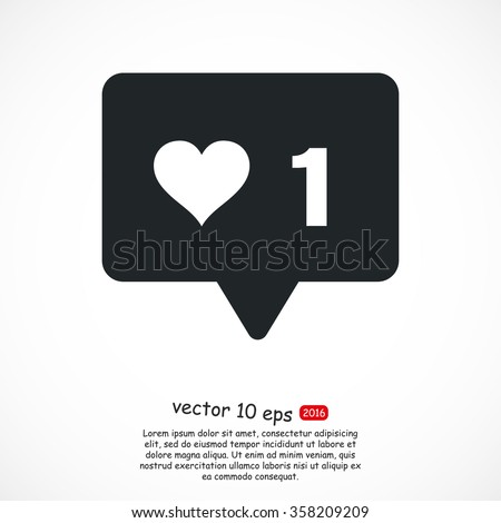 vector icon like  - stock vector