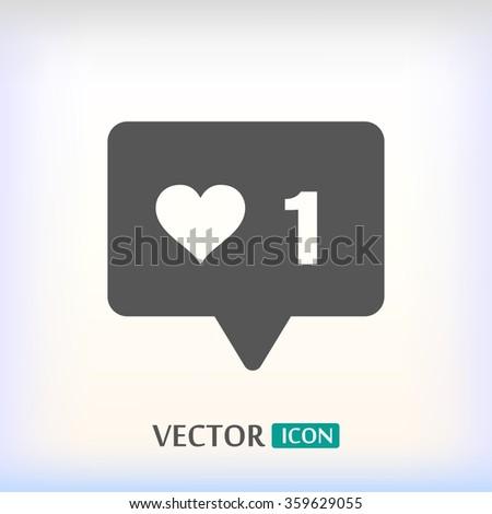 vector icon like  - stock vector