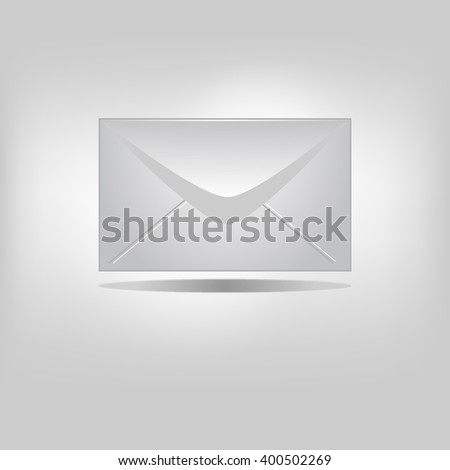 vector icon mail isolated - stock vector