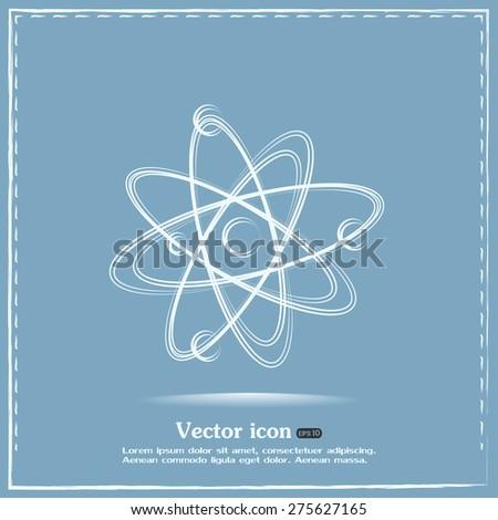 Vector icon Molecule Icon  - stock vector
