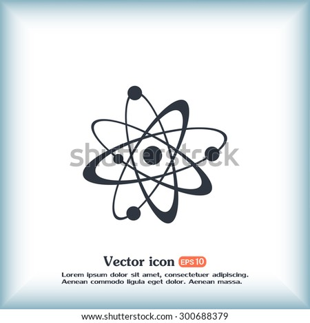 Vector icon Molecule Icon  - stock vector