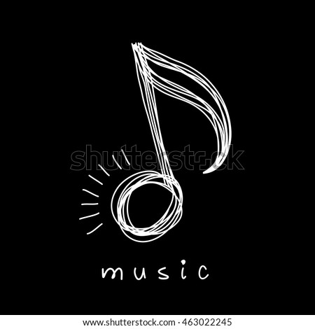 Vector Icon Music Note Doodle Logo Stock Vector 601504370 ...
