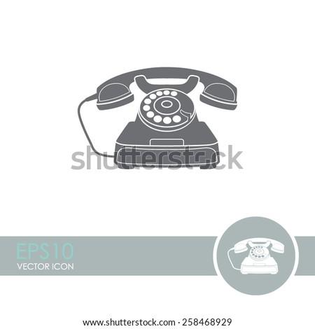 Vector icon of a retro phone. - stock vector