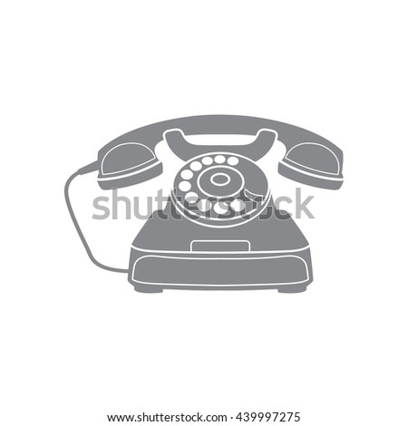 Vector icon of a retro phone.