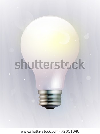 vector icon of an electric light bulb. EPS10, transparency