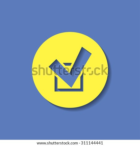 vector icon of check  - stock vector
