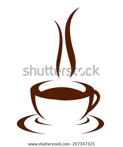 Vector icon of coffee cup - stock vector