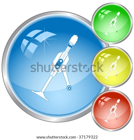 vector icon of hand drill. All layers are grouped. - stock vector