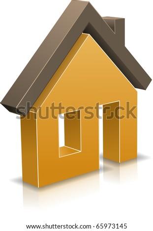 Vector icon of house. - stock vector