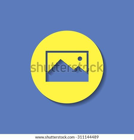 vector icon of image photo  - stock vector