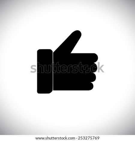 vector icon of like symbol for approval on internet, mobile phones, social media sites - social media graphic - stock vector