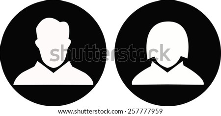 vector icon of male and female - stock vector