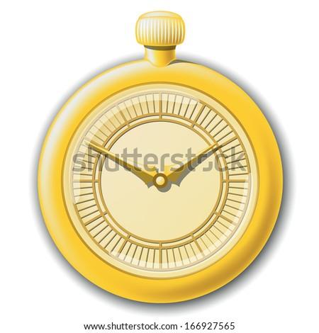Vector icon of retro pocket watches - stock vector