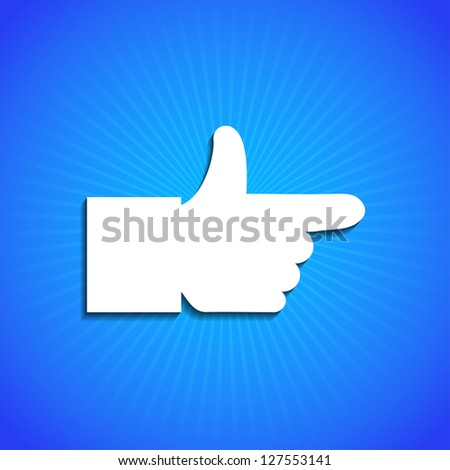 Vector icon on blue background. Eps10 - stock vector