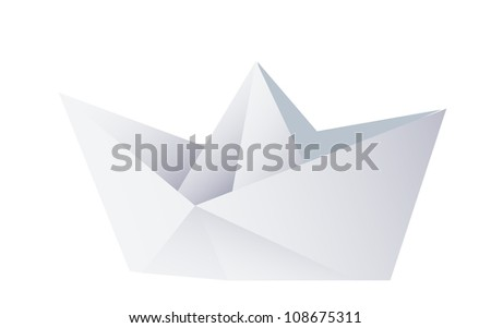 vector icon paper ship