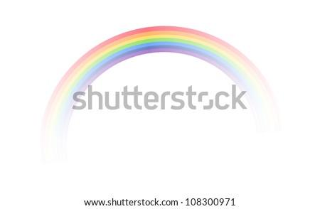 vector icon rainbow - stock vector